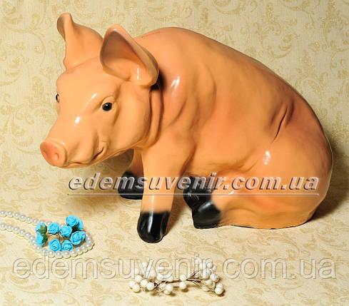 Копилка Свинья сидячая большая, фото 2