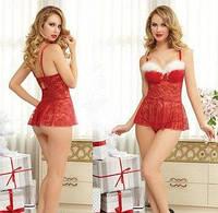 Новогоднее платье / Эротическое белье / Сексуальное белье / Еротична сексуальна білизна, фото 1