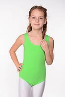 Детский купальник для гимнастики (хлопок) Салатовый