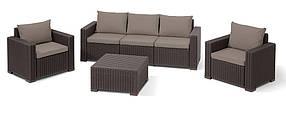 Комплект садовой мебели California 3 seater коричневый (Time Eco TM)