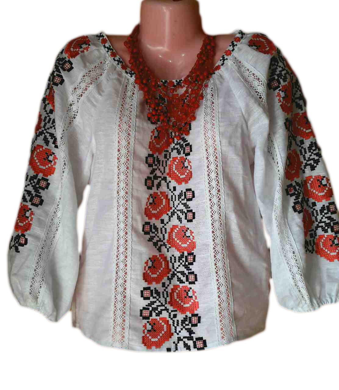 "Жіноча вишита сорочка (блузка) ""Жаклін "" (Женская вышитая рубашка (блузка) ""Жаклин "") BK-0004"