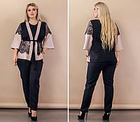 """Женский повседневный костюм больших размеров """" Кофта и брюки """"  Dress Code, фото 1"""