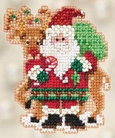 Набор для вышивки Mill Hill Santa and Rudolph