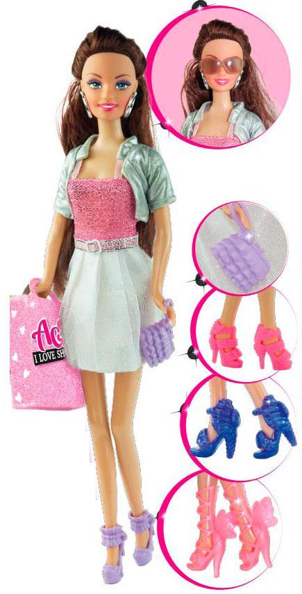 """Кукла Ася """"Я люблю обувь"""" 28см в кор. 16,5*32,5*6см. //"""