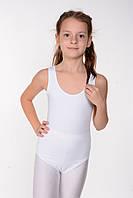 Детский белый купальник для гимнастики (хлопок) Белый
