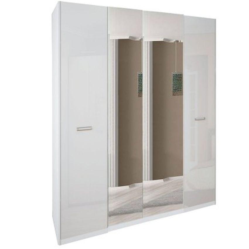 Шкаф 4дв с зеркалом Белла Миро-Марк