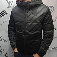 Куртка мужская Armani D4539 двухсторонняя демисезонная