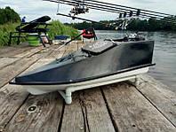 Карповый кораблик Фортуна с эхолотом ч/б 15 Ач