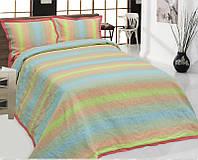 Комплект постельного белья Евро с.1,цвет 4,рис. 7 (подод. 220*210, прост.240*250, нав.50*70)100%лен