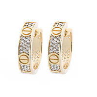Золотые серьги-кольца (фианит) с05393