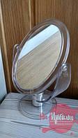 Косметическое зеркало двустороннее пластиковое (13,5 х 11)