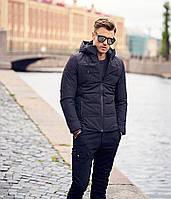 Мужская молодежная зимова черная куртка   Водовідштовхуюча   Утеплена 0353d73905c6a