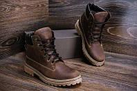 Ботинки мужские зимние кожаные в стиле Timberland crazy shoes