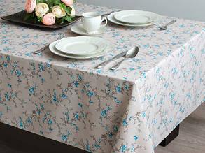 Скатерть 145х150 Голубые цветы