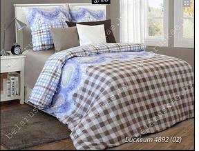 Комплект постельного белья евро  БИСКВИТ ПОПЛИН 220*200 (навол.50*70)