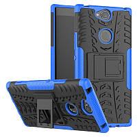Чехол Sony Xperia XA2 Plus / H4413 противоударный бампер синий