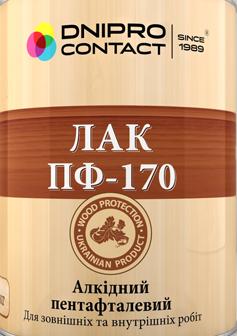 "Лак алкидный ПФ-170 ТМ ""ДНІПРО-КОНТАКТ"" 0,4 кг"