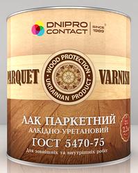 Лак паркетний алкідно-уретановий ТМ «ДНІПРО-КОНТАКТ» 2.2 кг