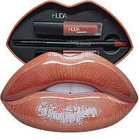 Набор для макияжа губ Contour Strobe Lip Set Huda Beauty Trendsetter-Snobby (orange)