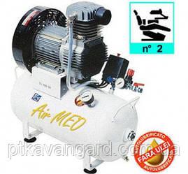 Компрессор безмасляный медицинский 24л, 150 л/мин, 1 цилиндр AIRMED 150-24 FIAC  (на 2 установки)