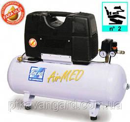 Компрессор безмасляный медицинский 50л, 200 л/миин, 2 цилиндра AIRMED 210-50 FIAC (на 2 установки)
