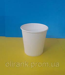 Стакани паперові 110 мл 50шт/уп білий (80уп/ящ)