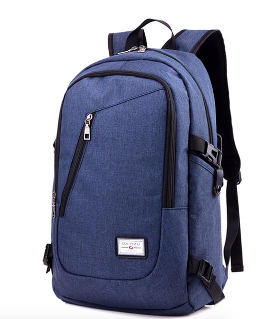 Рюкзак городской Dxyizu с выходом для гаджетов Синий