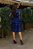 Нарядное женское стильное платье с V-образным вырезом ажурное кружево расшитое пайеткой размер 42,44,46, фото 3