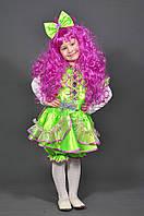 Костюм Кукла + парик для девочки 2-7 лет. Детский новогодний маскарадный карнавальный Хлопушка Конфетка салат