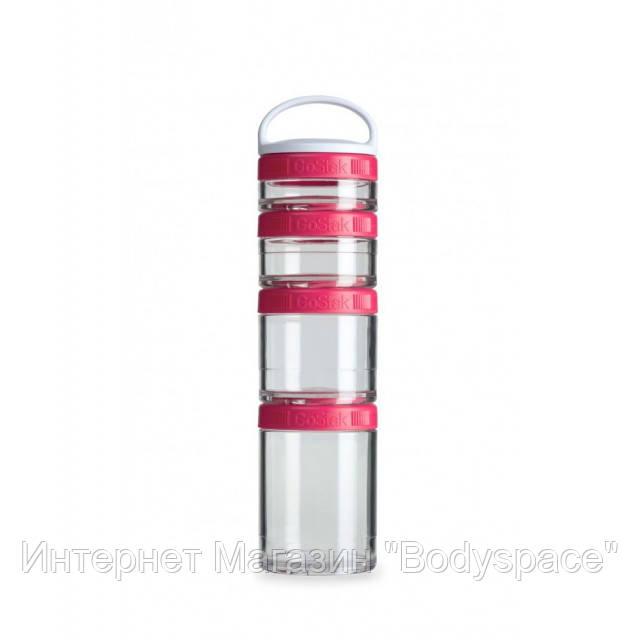 Blender Bottle, Контейнер GoStak Starter 4 Pack, Pink