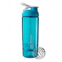 Blender Bottle, Спортивный шейкер BlenderBottle SportMixer Sleek Aqua, 760 мл