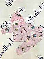 Костюм для новорожденной девочки тонкий размеры 56-80