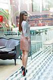 Блестящее яркое платье с рукавом 3/4 напыление амбре+ подкладка размер 42,44,46, фото 2