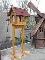 Деревянная кормушка для птиц  Умная Цапля