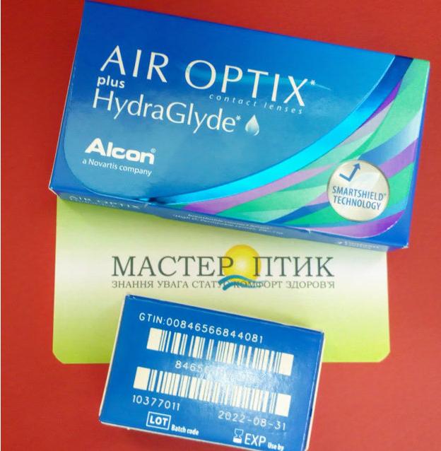 Контактні лінзи AIR OPTIX plus HydraGlyde