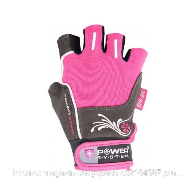 Power System, Перчатки женские Fitness WOMANS POWER PS 2570 розовые