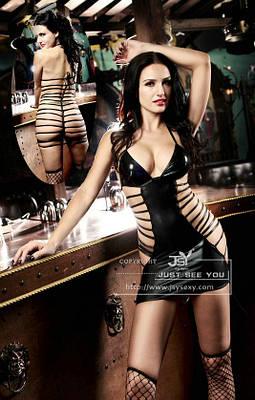 Платье виниловое со шнуровкой S/M