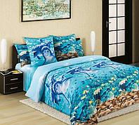 Комплект постельного белья ДЕЛЬФИНЫ (Перкаль) двухспальный