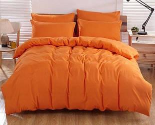 Комплект постельного белья Царский Дом из поплина АПЕЛЬСИНОВЫЙ евро