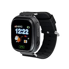 Детские умные смарт часы Q90S/100 с GPS и кнопкой SOS черные