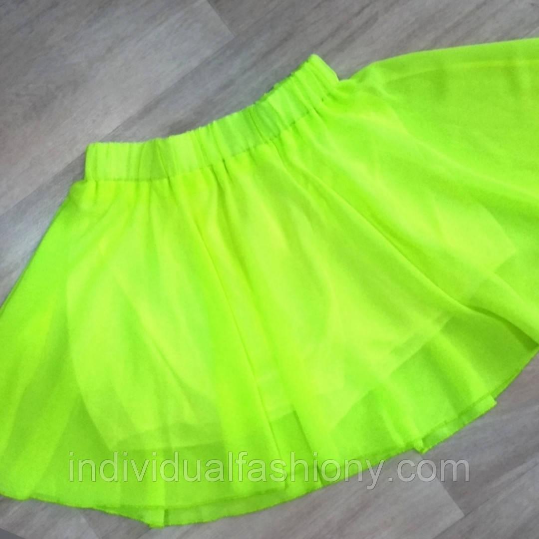 Шифоновая юбка солнце