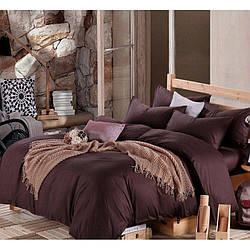 Комплект постельного белья Царский Дом из Сатина DARK CHOCOLATE Семейный