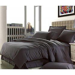 Комплект постельного белья Царский Дом из Сатина DARK GREY Двухспальный