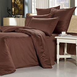 Комплект постельного белья Царский Дом из сатина ШОКОЛАД Двухспальный
