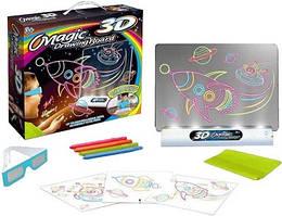 Доска 3D для рисования Magic Drawing Board 4 вида в кор. 35*45см. /48/