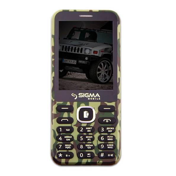 Телефон кнопочный с большим экраном мощной батареей и функцией PowerBank хаки