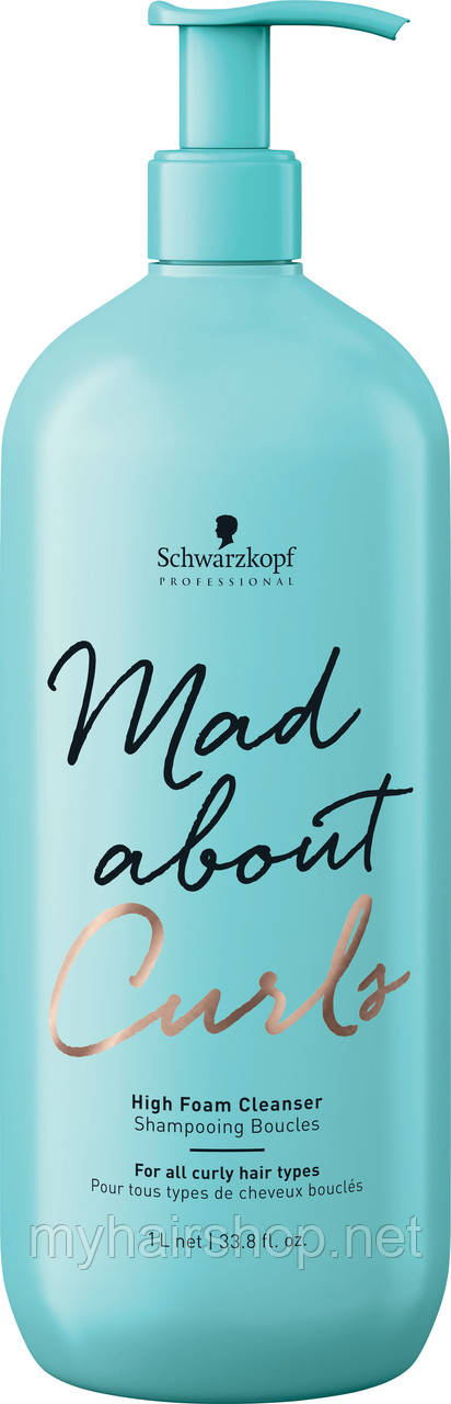 Безсульфатный шампунь для вьющихся волос SCHWARZKOPF Mad About Curls High Foam Cleanser 1000 мл