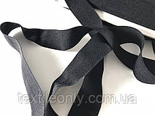 Трикотажная бейка цвет черный 20 мм, фото 3