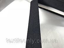 Трикотажная бейка цвет черный 20 мм, фото 2