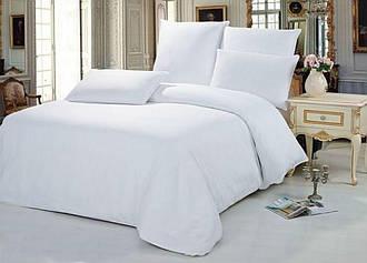 Комплект постельного белья Царский Дом из сатина WHITE (Белый) Семейный